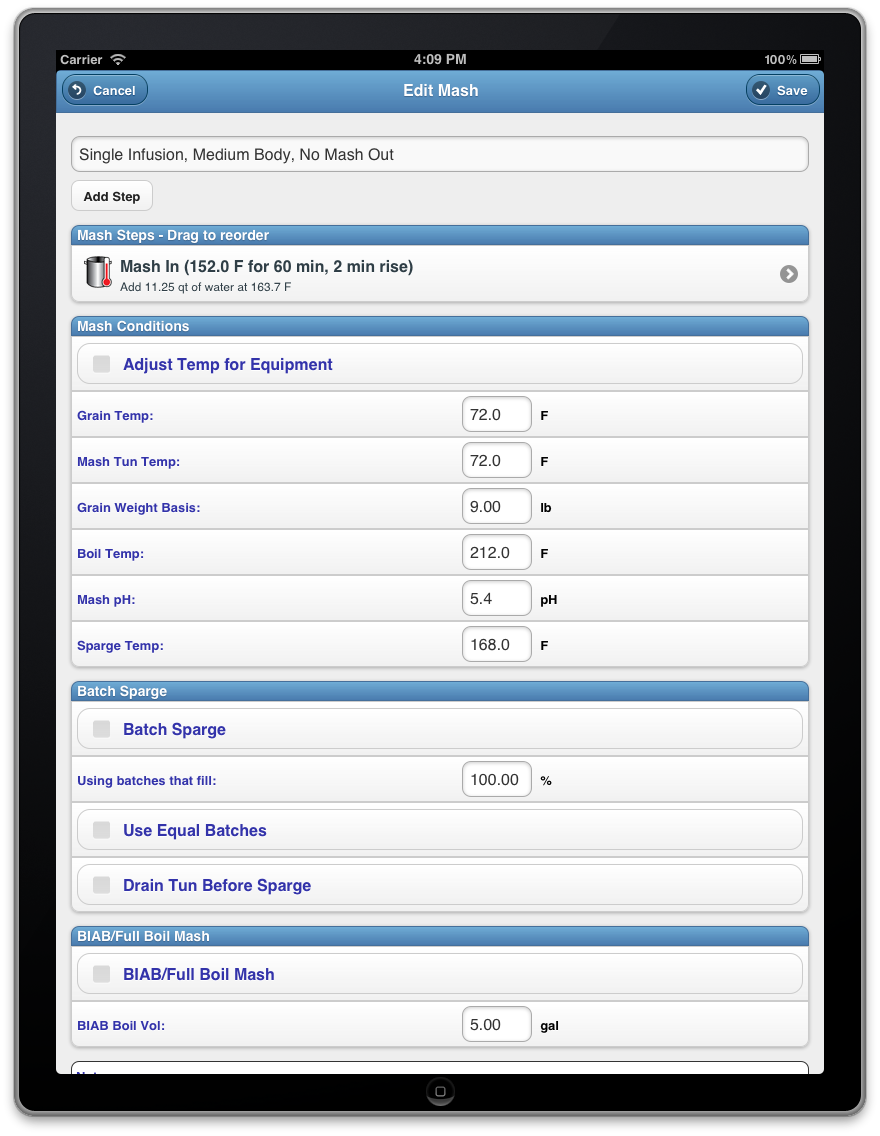 BeerSmith Mobile Home Brewing App for iPhone/iPad, Android and